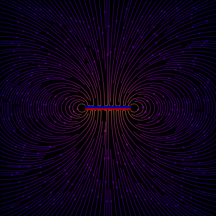 The electric field of a polarized disc