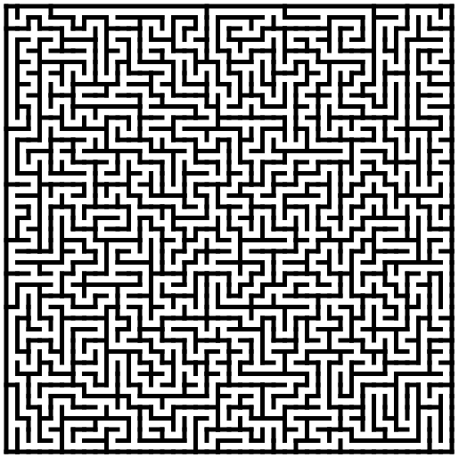 Depth-first maze