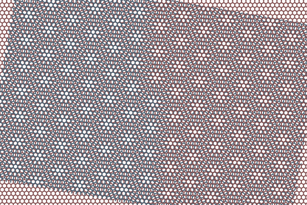 Moiré patterns in a pair of hexagonal lattices